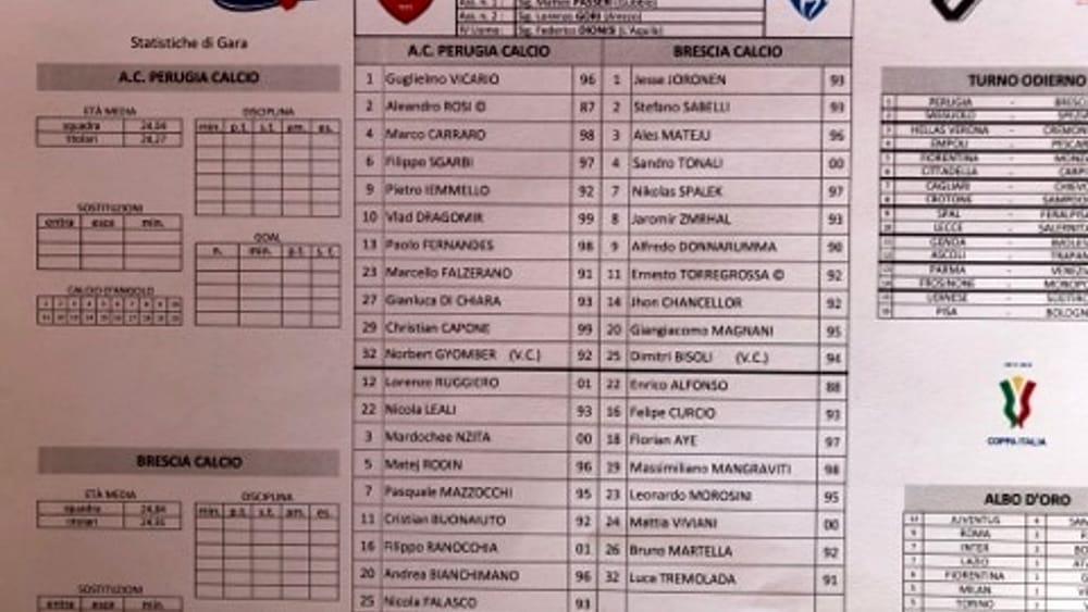 Coppa Italia, Perugia Brescia 2-1: Grifo avanti di rimonta ai ...